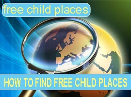 finding free child places holidays